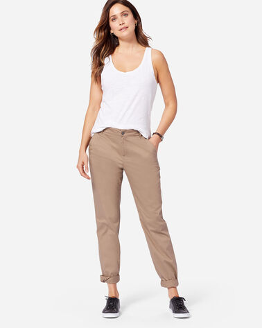BOYFRIEND CHINOS IN TAUPE