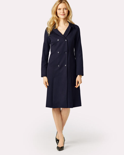 SEASONLESS WOOL FLORENCE COAT DRESS, MIDNIGHT NAVY, large
