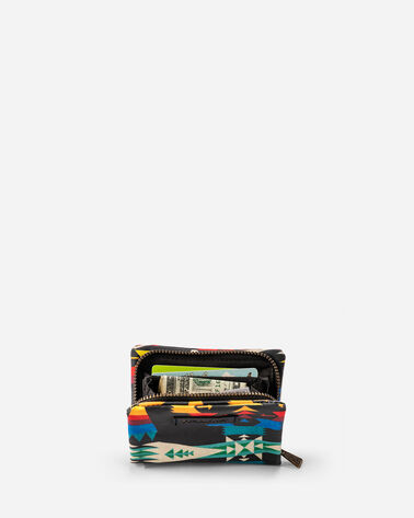 ADDITIONAL VIEW OF TUCSON CANOPY CANVAS ACCORDION WALLET IN BLACK/MULTI
