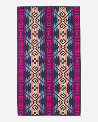 ADDITIONAL VIEW OF COYOTE BUTTE SPA TOWEL IN BLACK MULTI