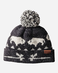 JACQUARD POM POM HAT, BLACK BIG MEDICINE, large