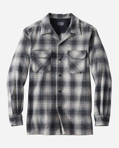 MEN'S FITTED BOARD SHIRT IN GREY/BLACK/TAN OMBRE