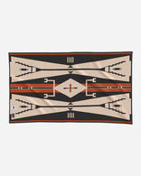 EAGLE SADDLE BLANKET IN BLACK/TAN