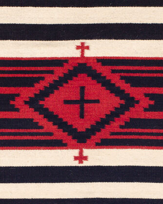 ADDITIONAL VIEW OF THIRD PHASE CROSSES RUG IN RED/BLACK