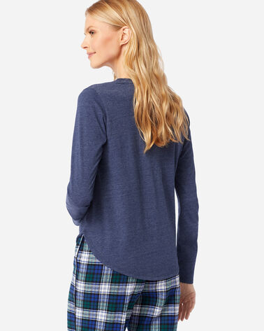 ADDITIONAL VIEW OF WOMEN'S LONG-SLEEVE JERSEY TEE IN NAVY HEATHER