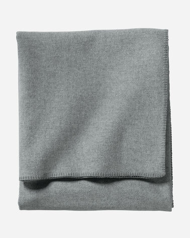 ECO-WISE WOOL SOLID BLANKET IN GREY HEATHER