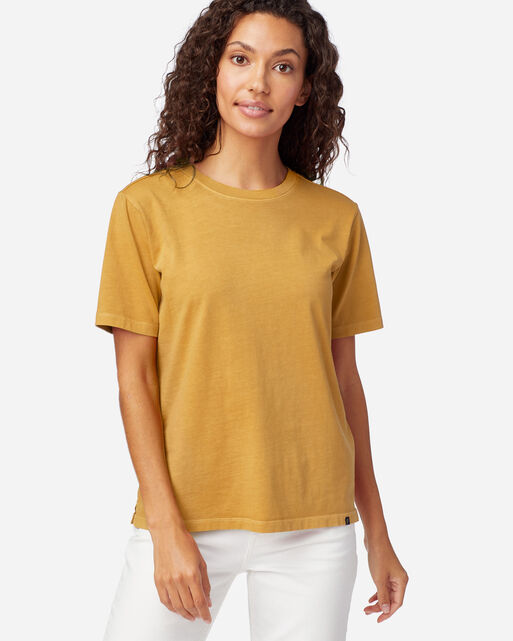 WOMEN'S DESCHUTES TEE IN MUSTARD
