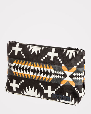 SPIDER ROCK COSMETIC BAG, BLACK/WHITE, large
