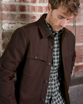 ADDITIONAL VIEW OF MEN'S ECO-WISE WOOL SHIRT JACKET IN BROWN/WALNUT
