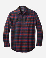 DOUBLE-BRUSHED HAWTHORNE FLANNEL SHIRT IN ANGUS BLUE TARTAN