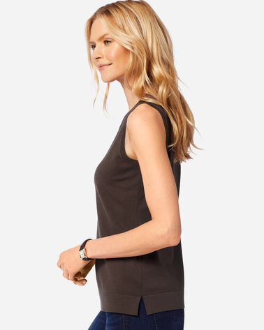 ADDITIONAL VIEW OF WOMEN'S COLBY SLEEVELESS CREW IN COFFEE