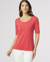 PERFECT PIMA TEE, CORAL PINK, large