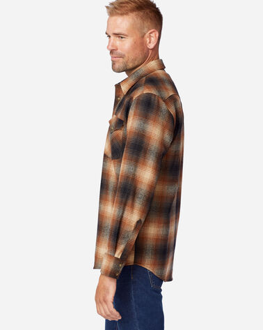 ALTERNATE VIEW OF MEN'S SNAP-FRONT WESTERN CANYON SHIRT IN BROWN/RUST OMBRE