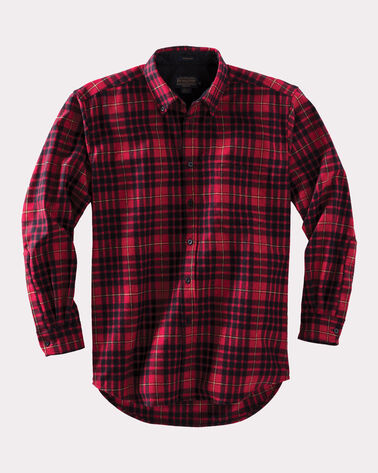 BUTTON-DOWN FIRESIDE SHIRT, RED MACIAN TARTAN, large