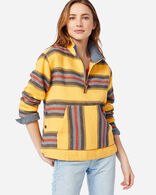 WOMEN'S HALF ZIP PULLOVER IN MARIGOLD STRIPE