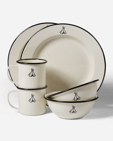 PENDLETON CAMP ENAMELWARE DISHES IN IVORY
