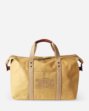 COTTON CANVAS GYM BAG IN HARVEST TAN