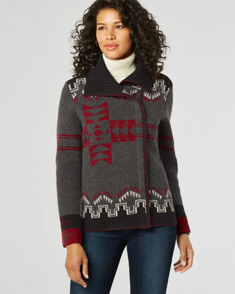 SIERRA STAR CARDIGAN, CHARCOAL MIX MULTI, large