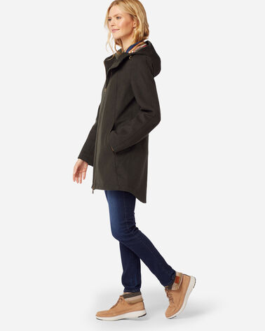 ADDITIONAL VIEW OF WOMEN'S FINLAY WATERPROOF HOODED COAT IN KALAMATA