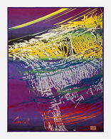 CHIHULY BLANKET #17, PURPLE/GREEN, large