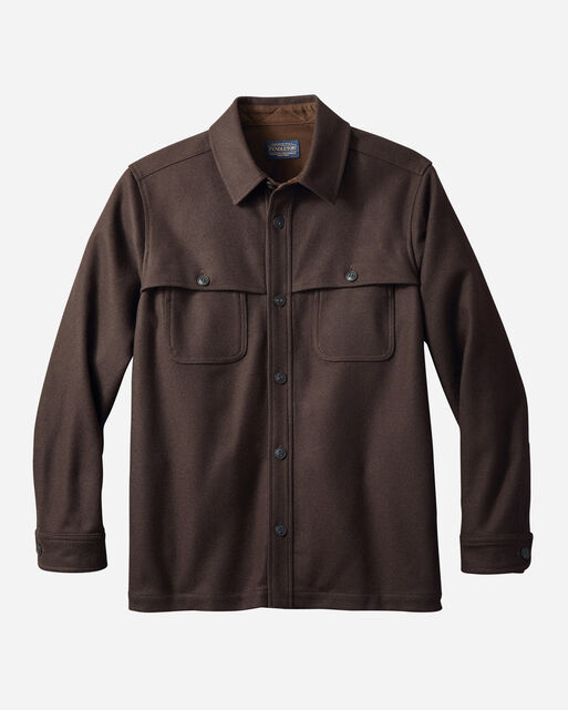 MEN'S ECO-WISE WOOL SHIRT JACKET IN BROWN/WALNUT