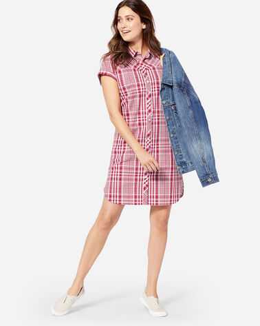 SUNNYSIDE TWO POCKET SHIRT DRESS IN RED ROCK