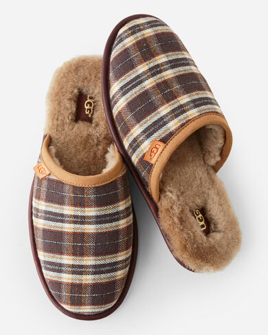 SCUFF PLAID SLIPPERS, , large
