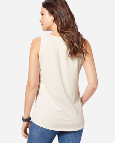 WOMEN'S COMPASS GRAPHIC TANK, ANTIQUE WHITE, large