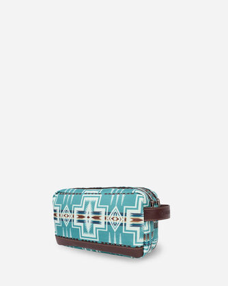 ALTERNATE VIEW OF HARDING TOILETRY BAG IN AQUA