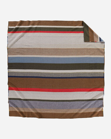 ALTERNATE VIEW OF BRIDGER STRIPE BLANKET IN MULTI STRIPE