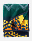 ADDITIONAL VIEW OF WILDLAND HEROES FIREFIGHTERS BLANKET IN TEAL