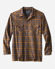 FITTED BOARD SHIRT, BRONZE/BLUE PLAID, large