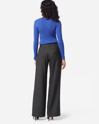 ADDITIONAL VIEW OF HOLLYWOOD AIRLOOM WOOL PANTS IN BLACK