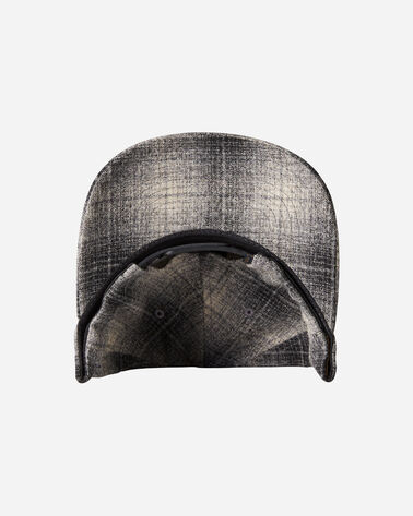 ALTERNATE VIEW OF WOOL HAT IN GREY/BLACK OMBRE