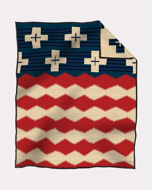 BRAVE STAR BLANKET, RED/WHITE/BLUE, large