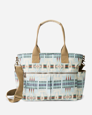 ALTERNATE VIEW OF HARDING CANOPY CANVAS SUPER TOTE IN AQUA