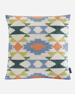 ARVADA CROSS STITCH PILLOW IN GREEN MULTI