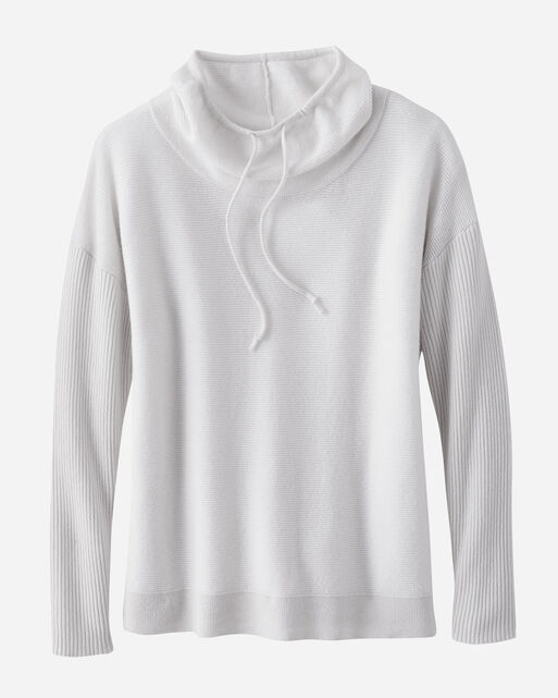 CASHMERE WEEKEND PULLOVER, IVORY, large