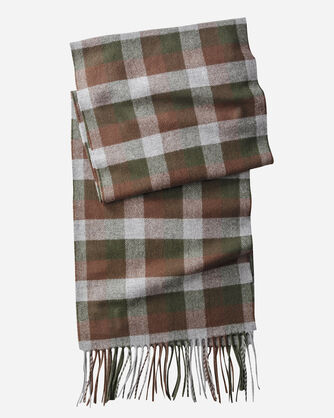 WHISPERWOOL MUFFLER, BLOCK PLAID, large