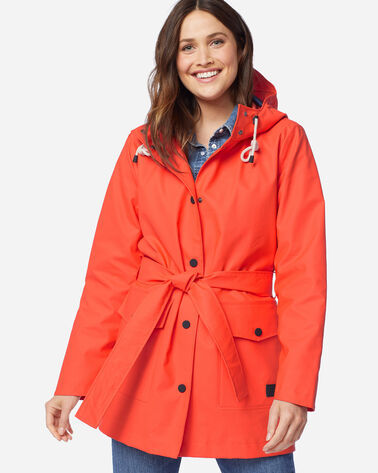 WOMEN'S BROOKINGS RAIN JACKET IN TANGERINE