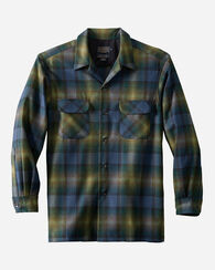 FITTED BOARD SHIRT, GREEN/NAVY OMBRE, large