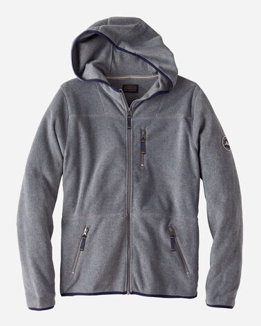 MEN'S FLEECE HOODIE IN GREY HEATHER