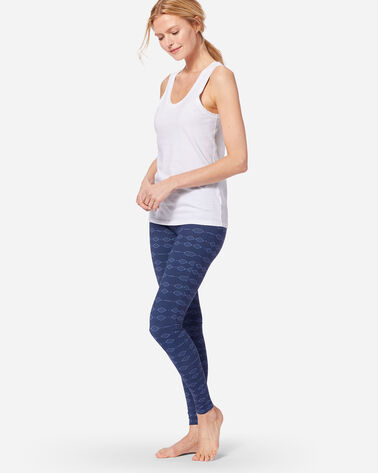 PRINTED LOUNGE LEGGINGS IN INDIGO