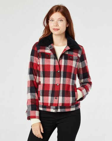 TIMBER PLAID WOOL JACKET, , large