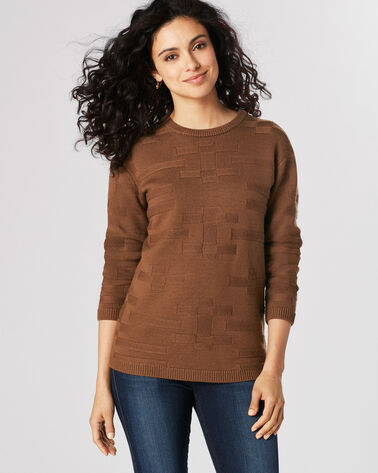 TONAL TEXTURED PULLOVER, DACHSHUND, large
