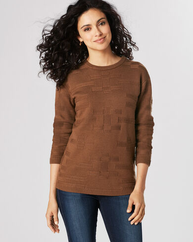 TONAL TEXTURED PULLOVER