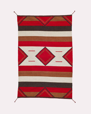ROMBOS RUG, RED/NATURAL, large
