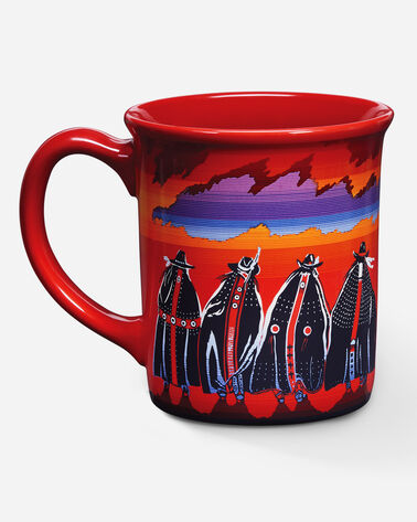 RODEO SISTERS COFFEE MUG, RED, large