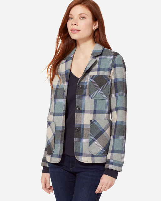 MARLOW PLAID WOOL JACKET, , large