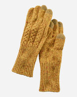CABLE GLOVES IN YELLOW